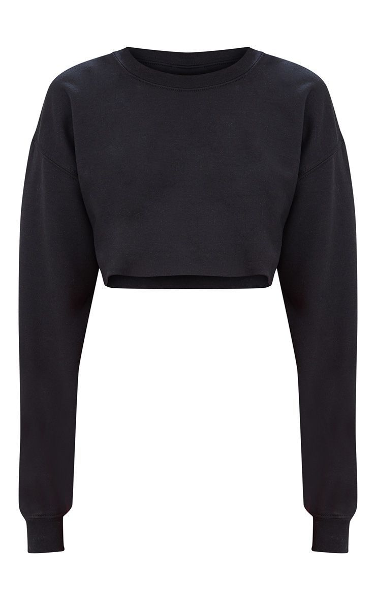 Black Ultimate Cropped Sweater