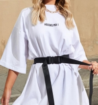 How to wear an Oversized T-shirt dress
